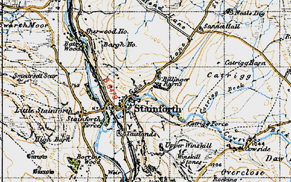Old map of Stainforth in 1947