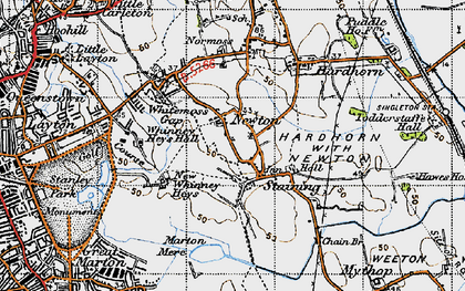 Old map of Staining in 1947