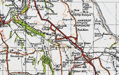 Old map of Asp Ho in 1947