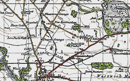 Old map of Westwick Moor in 1947