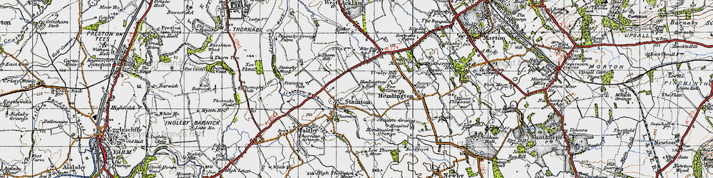 Old map of Stainton in 1947
