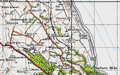 Old map of Island, The in 1947