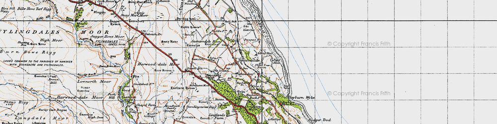 Old map of Staintondale in 1947