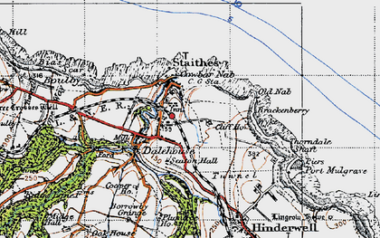 Old map of Dalehouse in 1947