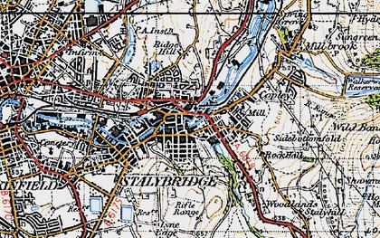 Old map of Stalybridge in 1947