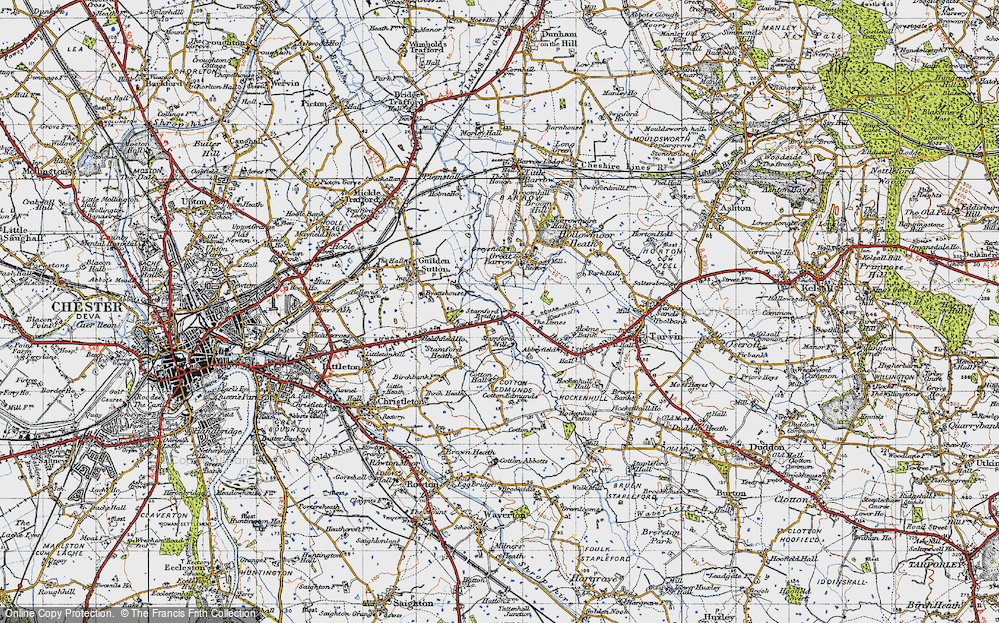 Old Map of Historic Map covering Limes, The in 1947