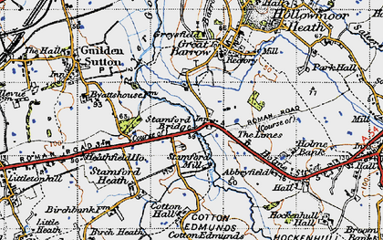 Old map of Limes, The in 1947