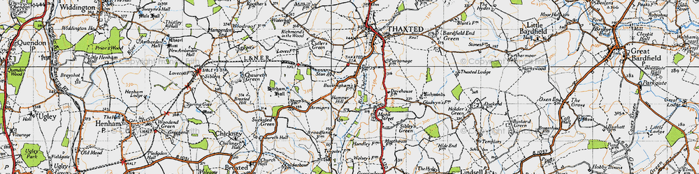 Old map of Stanbrook in 1946