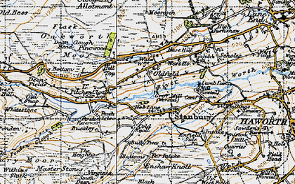 Old map of Stanbury in 1947