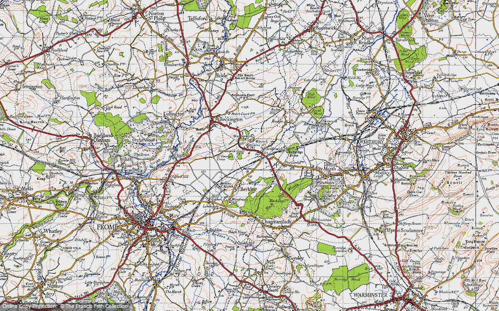 Old Map of Standerwick, 1946 in 1946