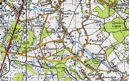 Old map of Linchborough Park in 1940
