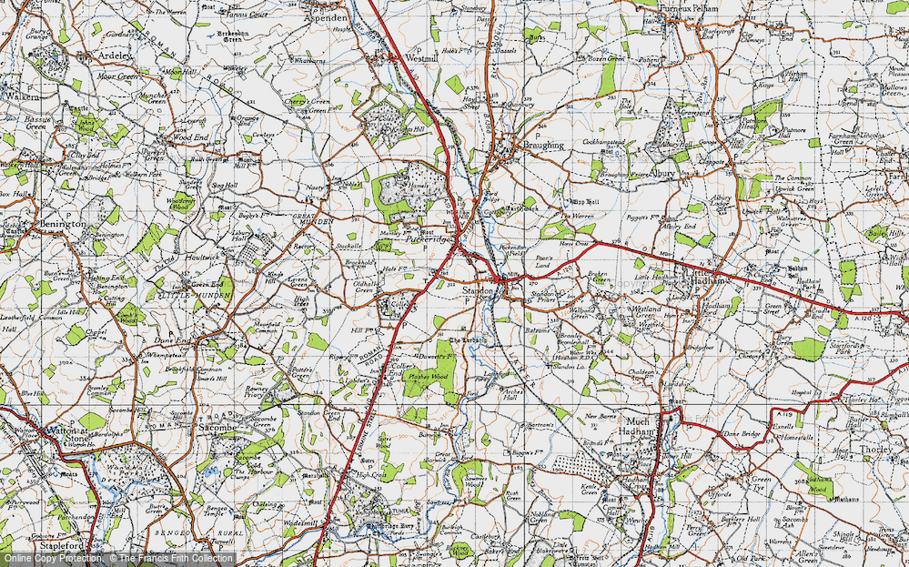 Old Map of Standon, 1946 in 1946
