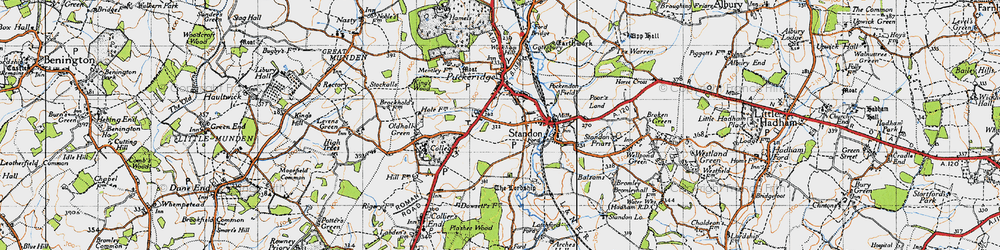 Old map of Standon in 1946