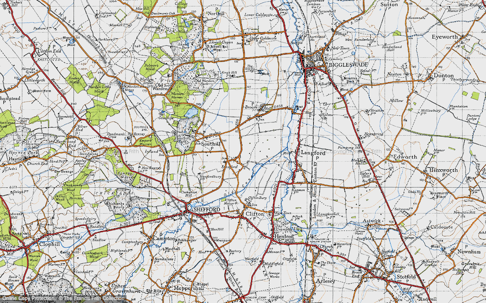Old Map of Stanford, 1946 in 1946