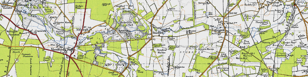 Old map of Widdowshill Plantn in 1946