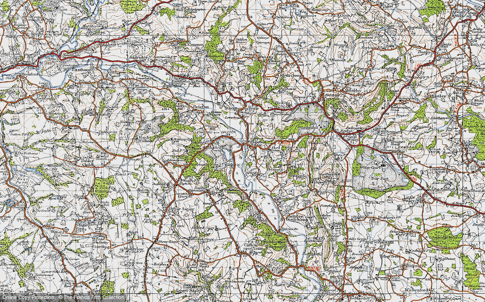 Old Map of Stanford Bridge, 1947 in 1947