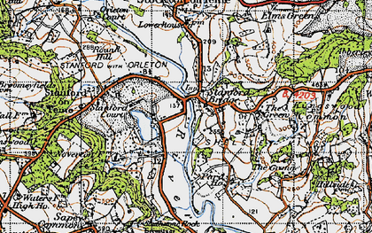 Old map of Stanford Bridge in 1947