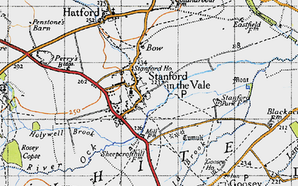 Old map of Stanford in the Vale in 1947