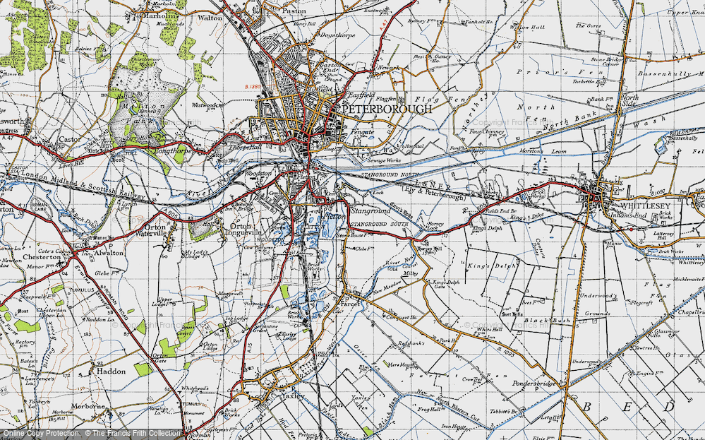 Old Map of Stanground, 1946 in 1946