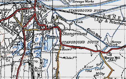 Old map of Stanground in 1946