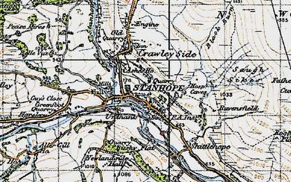 Old map of Ashes Ho in 1947