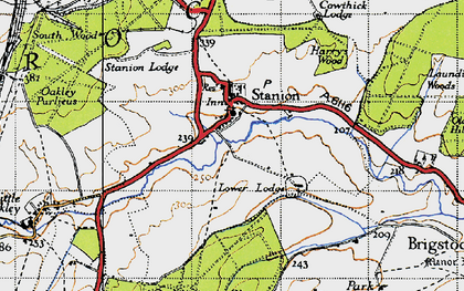 Old map of Stanion in 1946