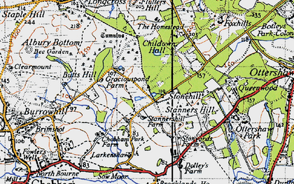Old map of Larkenshaw in 1940