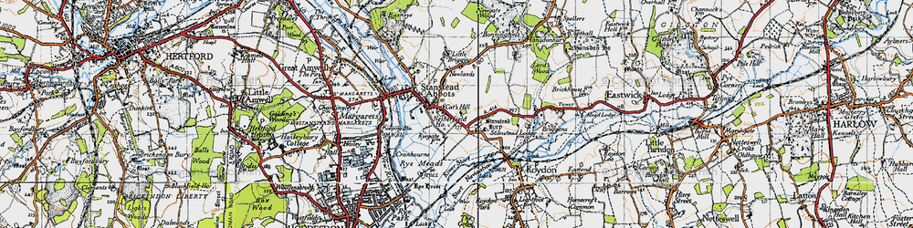 Old map of Stanstead Abbotts in 1946