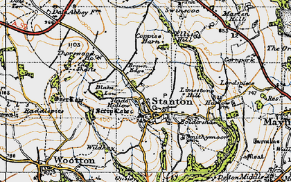 Old map of Limestone Hill in 1946