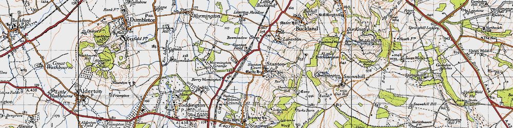 Old map of Stanton in 1946