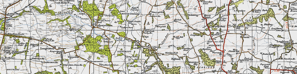 Old map of Witton Shields in 1947