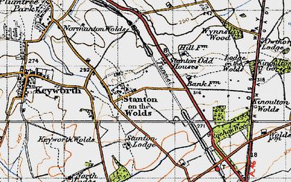 Old map of Wynnstay Wood in 1946