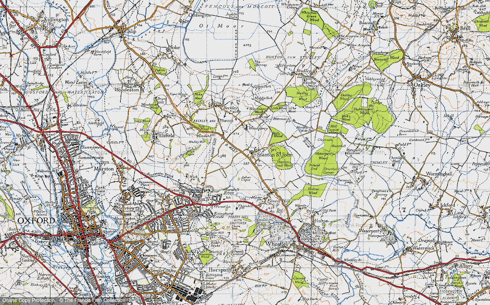 Old Map of Historic Map covering Ashen Copse in 1946