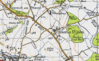 Old map of Ashen Copse in 1946