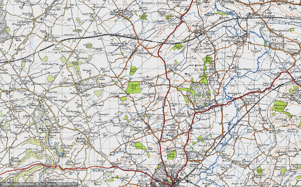 Old Map of Stanton St Quintin, 1946 in 1946