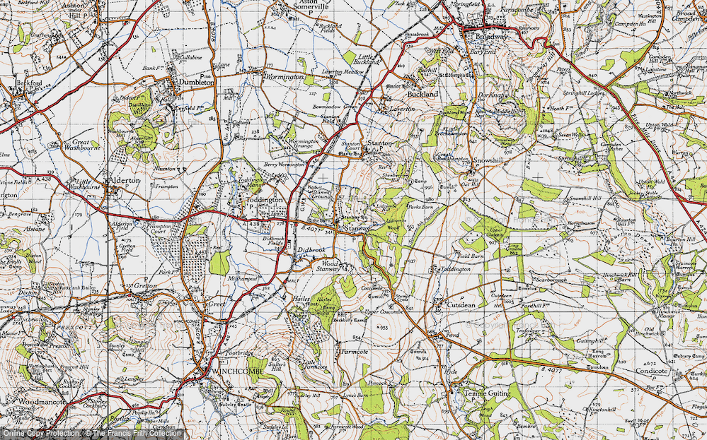 Old Map of Historic Map covering Lidcombe Wood in 1946
