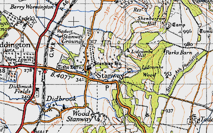 Old map of Lidcombe Wood in 1946