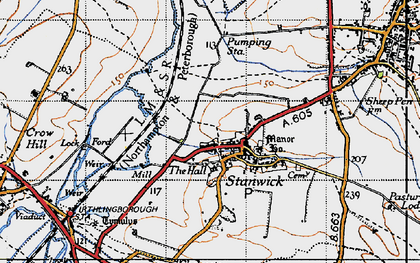 Old map of Stanwick in 1946