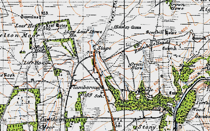 Old map of Leaf Howe Hill in 1947