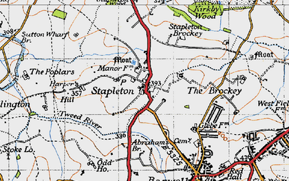 Old map of Abraham's Br in 1946