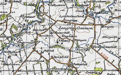 Old map of White Close in 1947