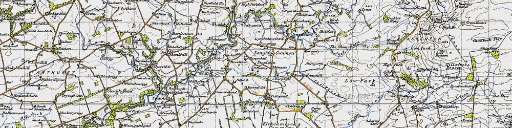 Old map of Allergarth in 1947