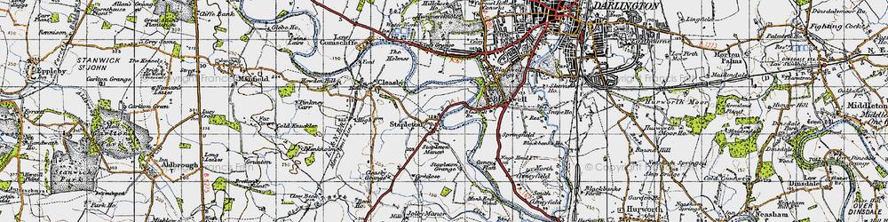 Old map of Stapleton in 1947