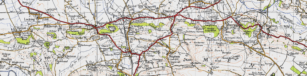 Old map of Wimblestone in 1946