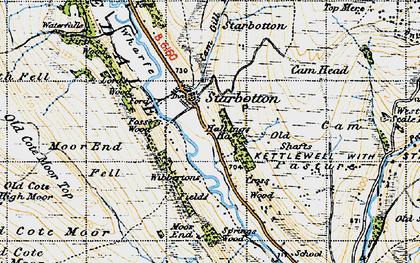 Old map of West Scale Park in 1947