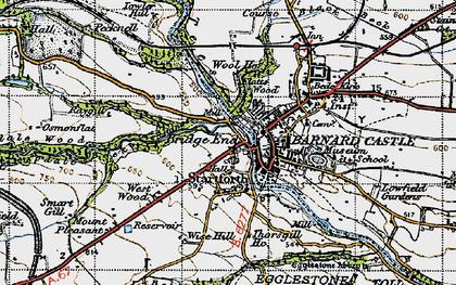 Old map of Startforth in 1947