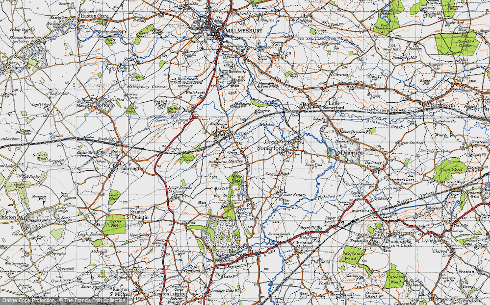 Old Map of Startley, 1947 in 1947