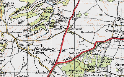 Old map of Bangel Wood in 1946