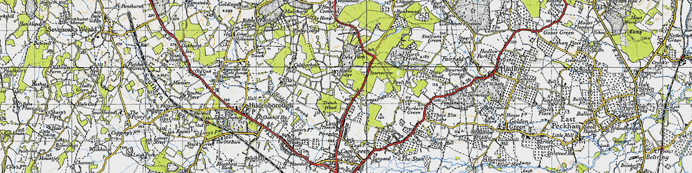 Old map of Yews, The in 1946
