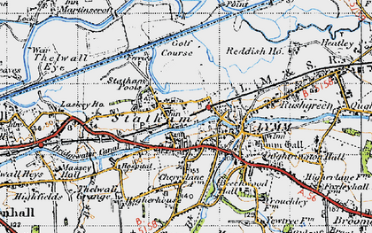 Old map of Statham in 1947